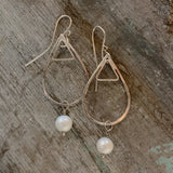 Sterling Silver Drops with Pearls