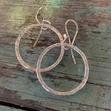 Simple Hammered Hoops