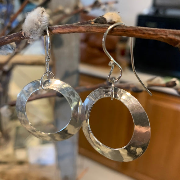 Big, Wide Sterling Silver Hoops