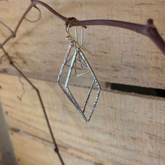 Earrings of Diamonds and Falling Triangles
