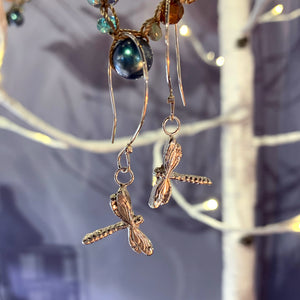 Long Dragonfly Earrings
