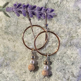 Rose Gold Hoops with Sterling Silver