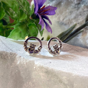 Celtic Claddagh Studs