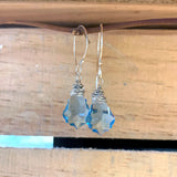 Blue Swarovski Crystal Drop Earrings