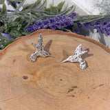 Sterling Silver Hummingbird Studs