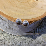 Sterling Silver Half Ball Stud Earrings