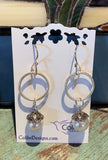Sterling Silver Circles with Marcasite and Pearls
