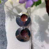 Sterling and Copper Dome Earrings