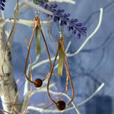 Sterling, Copper, Brass with Goldstone Beads