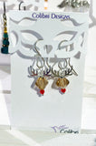 Rudolph Earrings - Sterling Silver and Swarovski Crystals