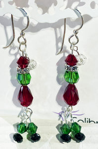 The Grinch Earrings with Swarovski and Sterling