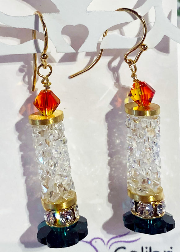 Holiday Candle Earrings