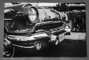 Enhanced Paper Gallery Wrap, Black and White Pontiac