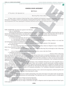 SN 1084 Nondisclosure Agreement (OR)