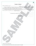SN 1149 Notice of Substituted or Office Service with Affidavit of Mailing (OR)