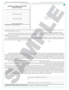SN 1169 Affidavit of Mailing Trustee's Notice of Sale (OR)