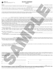 SN 1201 Security Agreement, General (OR)
