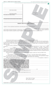 SN 1341 Warranty Deed in Fulfillment of Contract (OR)