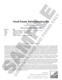 SN 1502 Small Estate Administration Kit (OR)