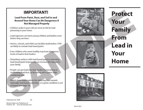 SN 2008 Protect Your Family from Lead in Your Home (ANY STATE)