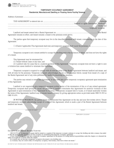 SN 577 Temporary Occupancy Agreement (OR)