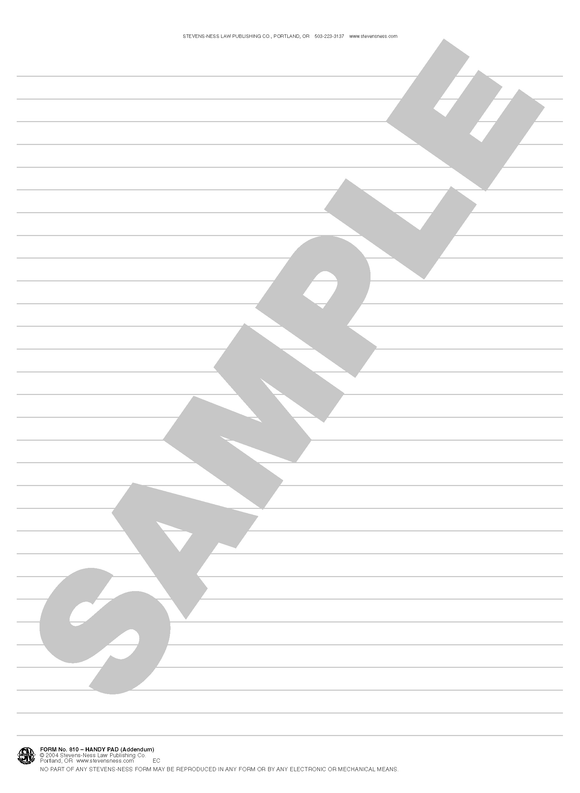 SN 810 Handy Pad (Addendum) (ANY)