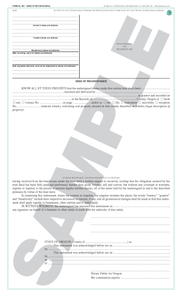SN 887 Trustee's Deed of Reconveyance (OR)