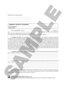 WA 63 Community Property Agreement (WA)