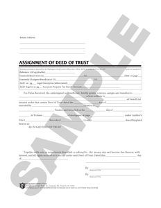 WA 66 Assignment of Deed of Trust (WA)