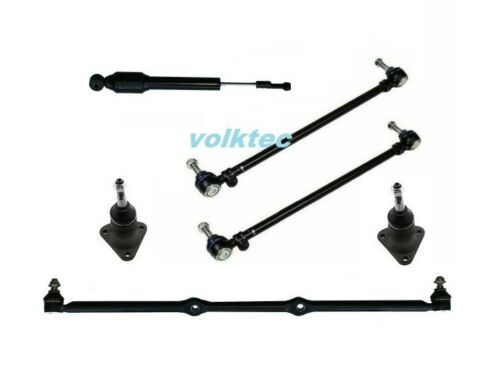 VW Super Beetle Center Drag Link,Ball Joint, Steering Damper,Tie Rod Kit 1971-73