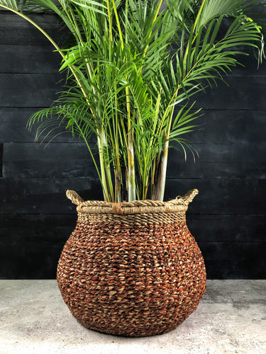 Woven Pandan basket with palm