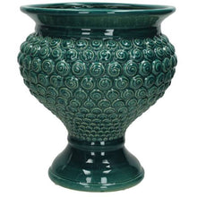 Load image into Gallery viewer, Petrol glazed ceramic urn