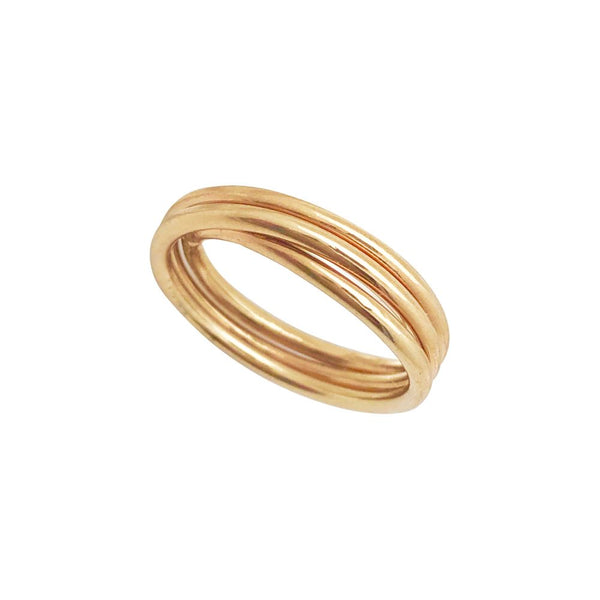 Gold nest ring, multiple layers.