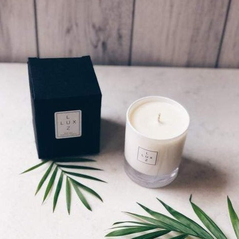 Eco-soy lime & basil scented candle