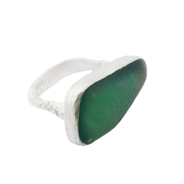 Sea Glass Ring Silver