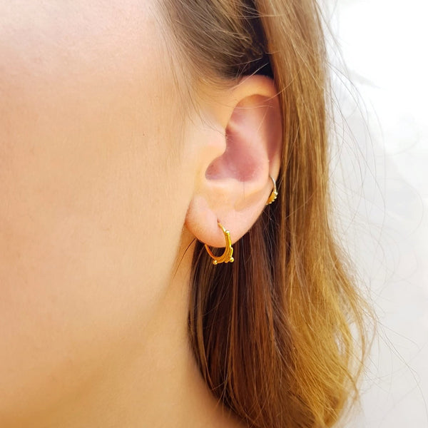 Sunburst Stud Earrings Gold