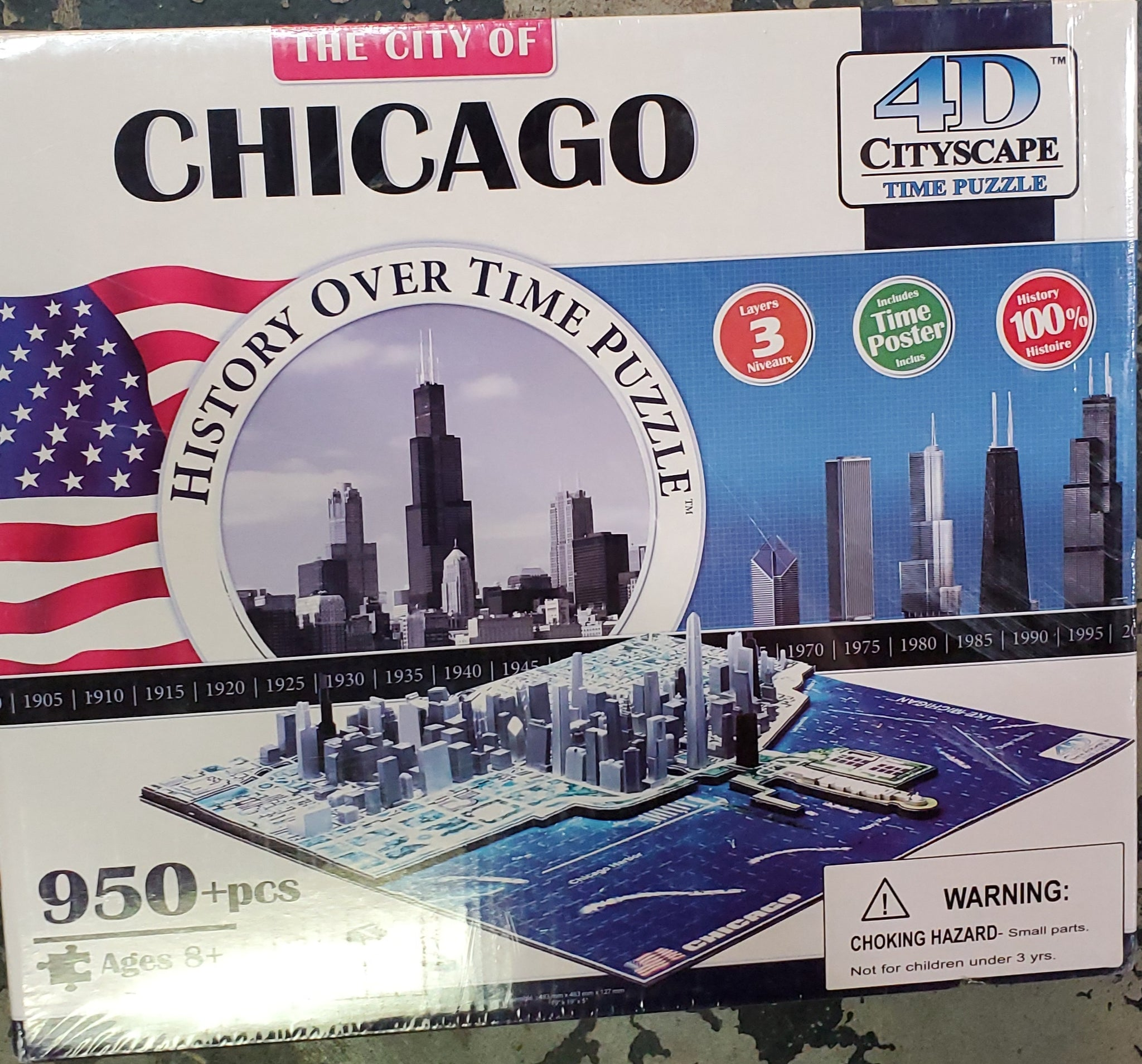 The City of Chicago 4D Puzzle