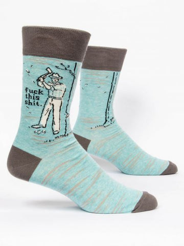 Blue Q Men's Crew Sock - Fuck This Shit
