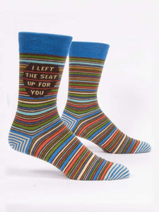 Blue Q Men's Crew Sock -I Left The Seat Up For You