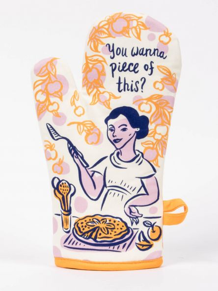 Blue Q Oven Mitt-  You Want A Piece?