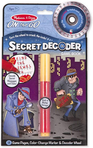 Melissa and Doug On The Go Secret Decoder Game Book