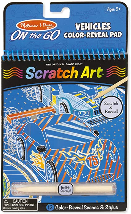 Melissa and Doug On-The-Go Scratch Art Vehicles