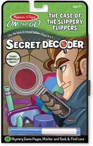 Melissa and Doug On the Go Secret Decoder Case of Slippery Flippers