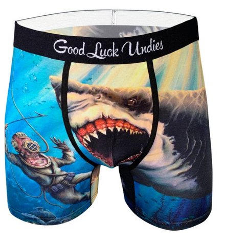 Good Luck Men's Undies- Attack Shark