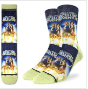 Good Luck Sock - Men's Crew Sock- Bill And Ted Excellent Adventure