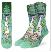 Good Luck Sock - Men's Crew Sock- Weed Smoking Human