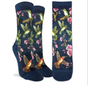 Good Luck Sock - Women's Crew Sock- Hummingbird