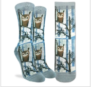 Good Luck Sock - Women's Crew Sock- Owl