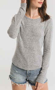 Marled Long Sleeved Fitted Top