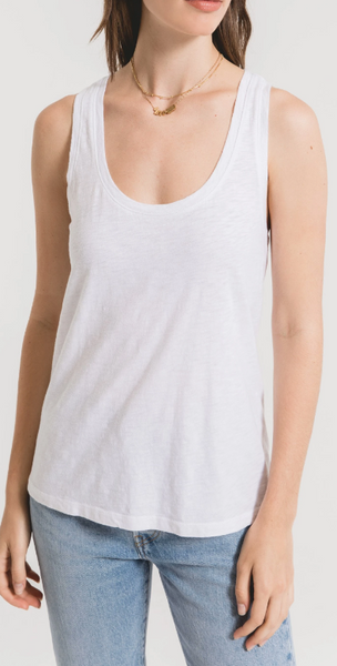 Slub Scoop Tank Top